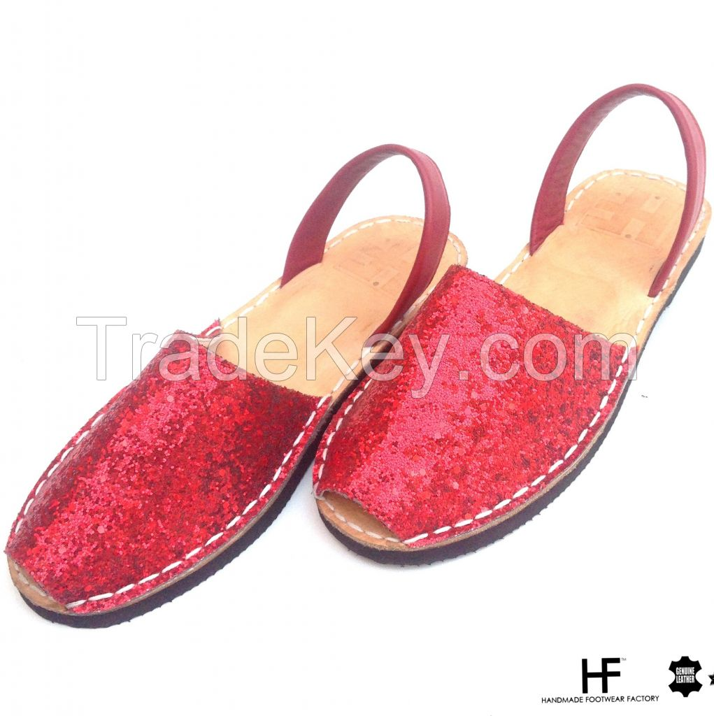 women leather sandals