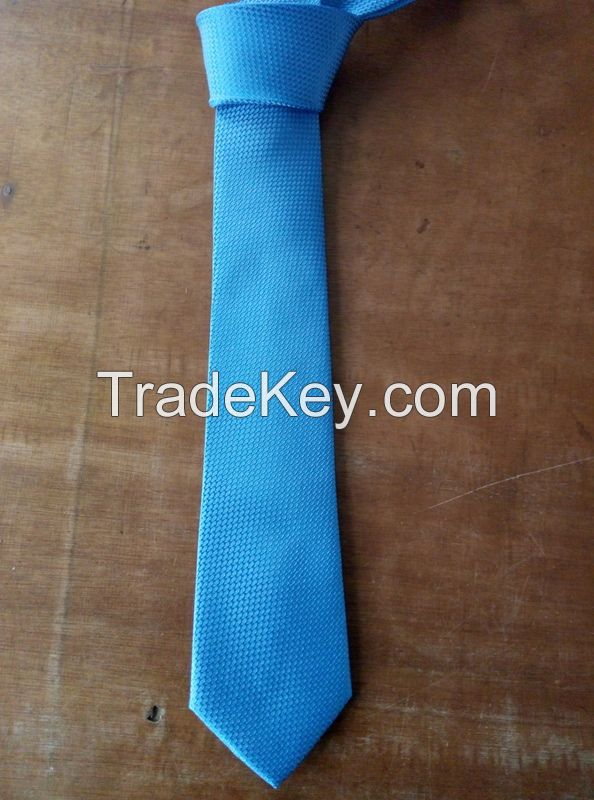fashion polyester necktie , solid color