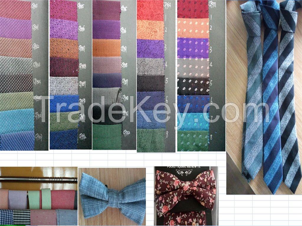 fashion cotton necktie ,men ties, bowtie with handkerchief