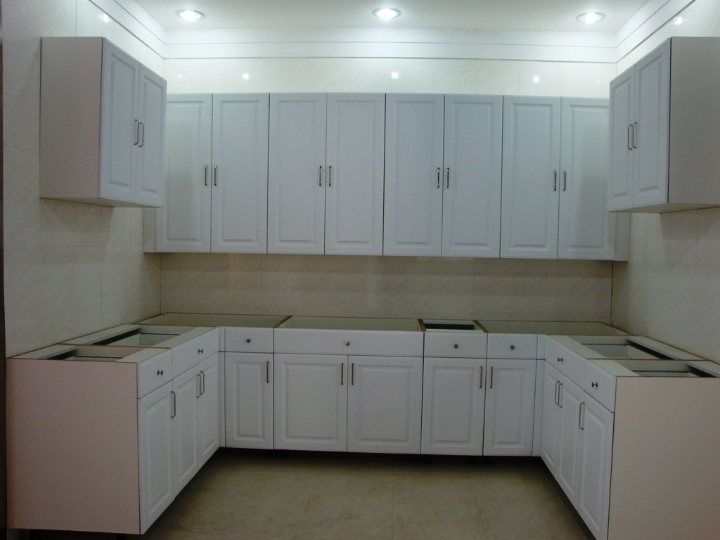 PVC Faced mdf cabinet doors, Slotted mdf , Kitchen ...