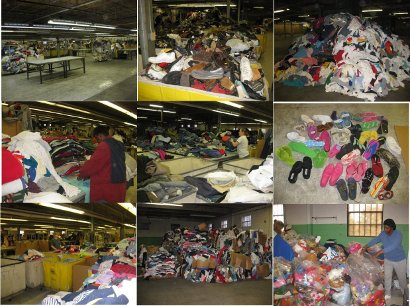 Used Clothes, clean, sorted by item, from The United States Of America