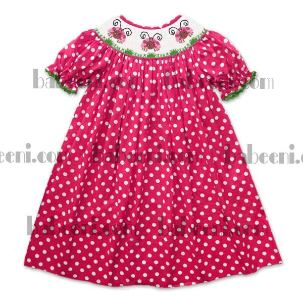 Toddler Girl Dresses With Polka Dot Fabric
