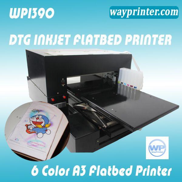 DTG A3 T shirt Flatbed Printer