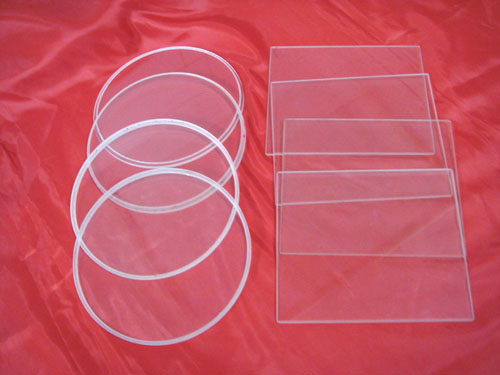 transparent quartz plates