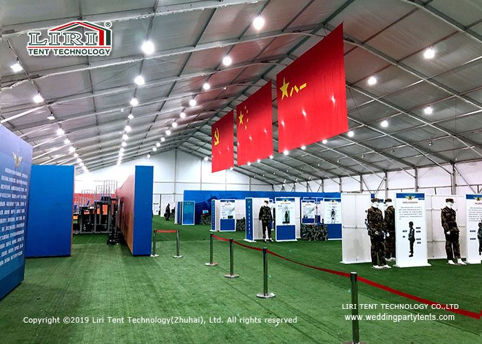 20M Wide High Quality Outdoor Event Tent with Plain white PVC Sidewall For Exhibition