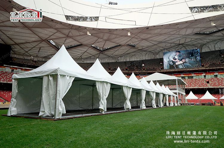 High Quality Aluminum Pagoda Tent With Plain White PVC Sidewall For Event