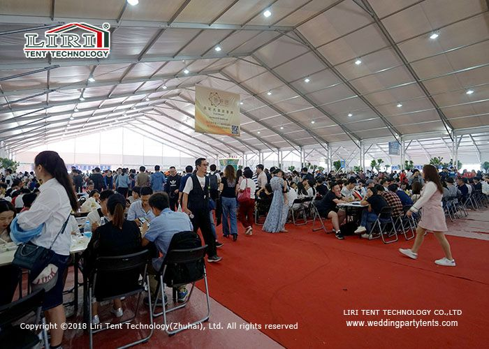 40M Wide Aluminum Outdoor Event Tent with Plain white PVC Sidewall For Restaurant