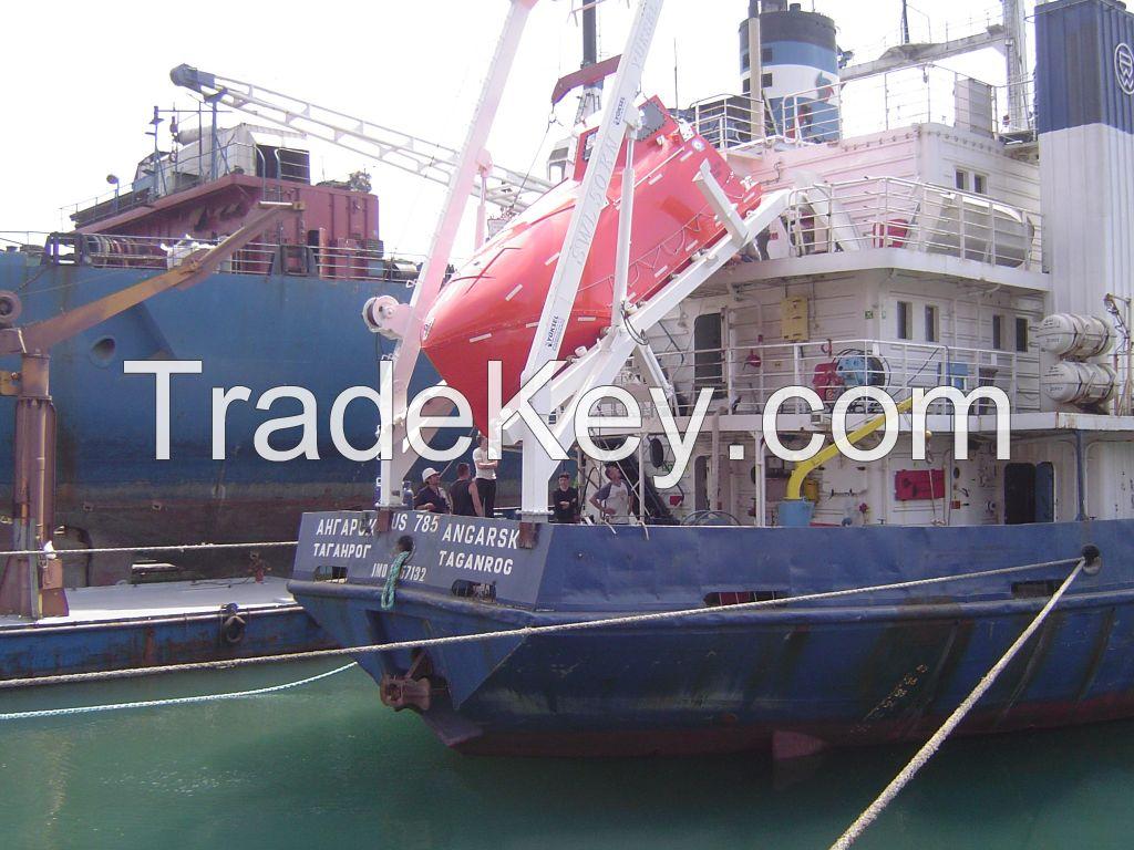 freefall lifeboats and davits