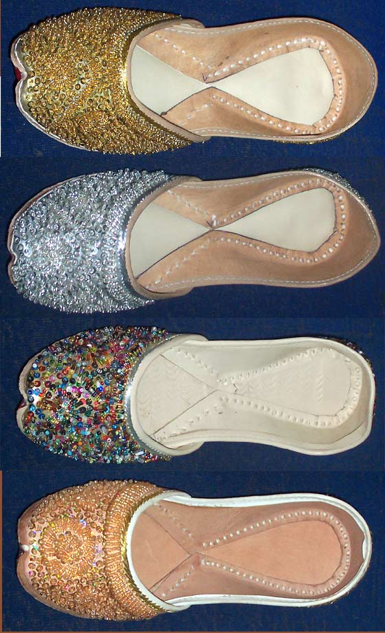 Fashionable Beaded Footwear