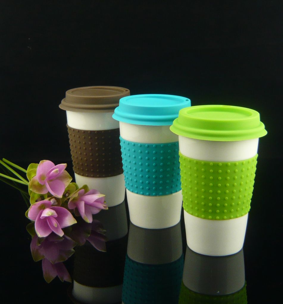 Porcelain double wall cup