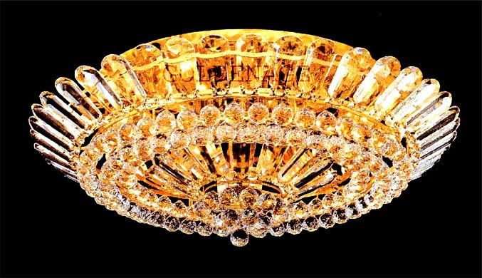 Crystal Ceiling Lamp in Gold Plated Finish/Size:W99cm*H30cm