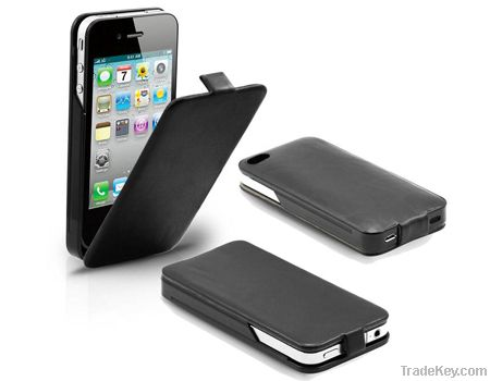 Supercharged Leather Power Case, Power Pack for iPhone4S, iPhone4G