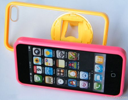 Fold Case TPU+PC with 360 degree bracket for iPhone5