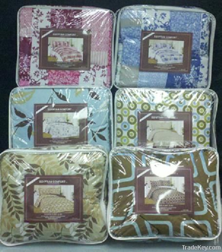 King Size Egyptian Reversible Comforter 3 Piece