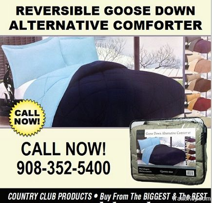 REVERSIBLE GOOSE DOWN ALTERNATIVE COMFORTER