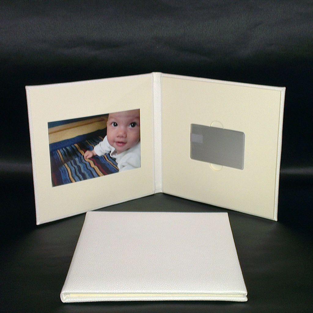PU leather photo filing folder with card style usb flash drive
