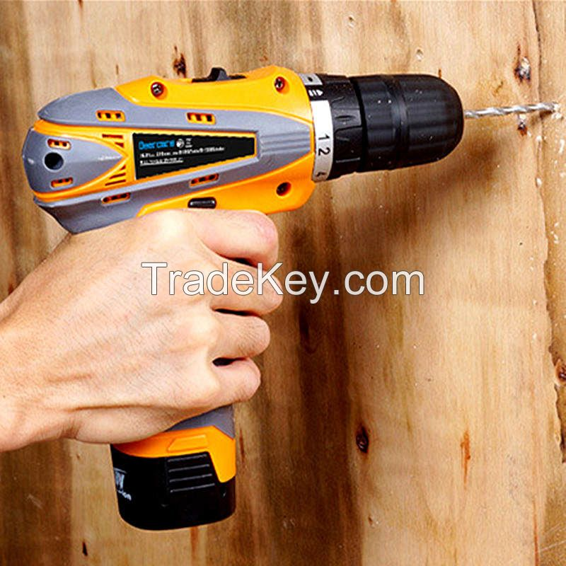 16.8V Cordless Electric Screwdriver Household Double Speed Rechargeable Drill Power Tools Two Lithium Battery Drill Plastic Box