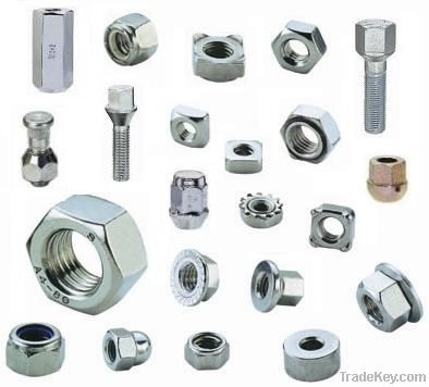 Flange slotted Nuts