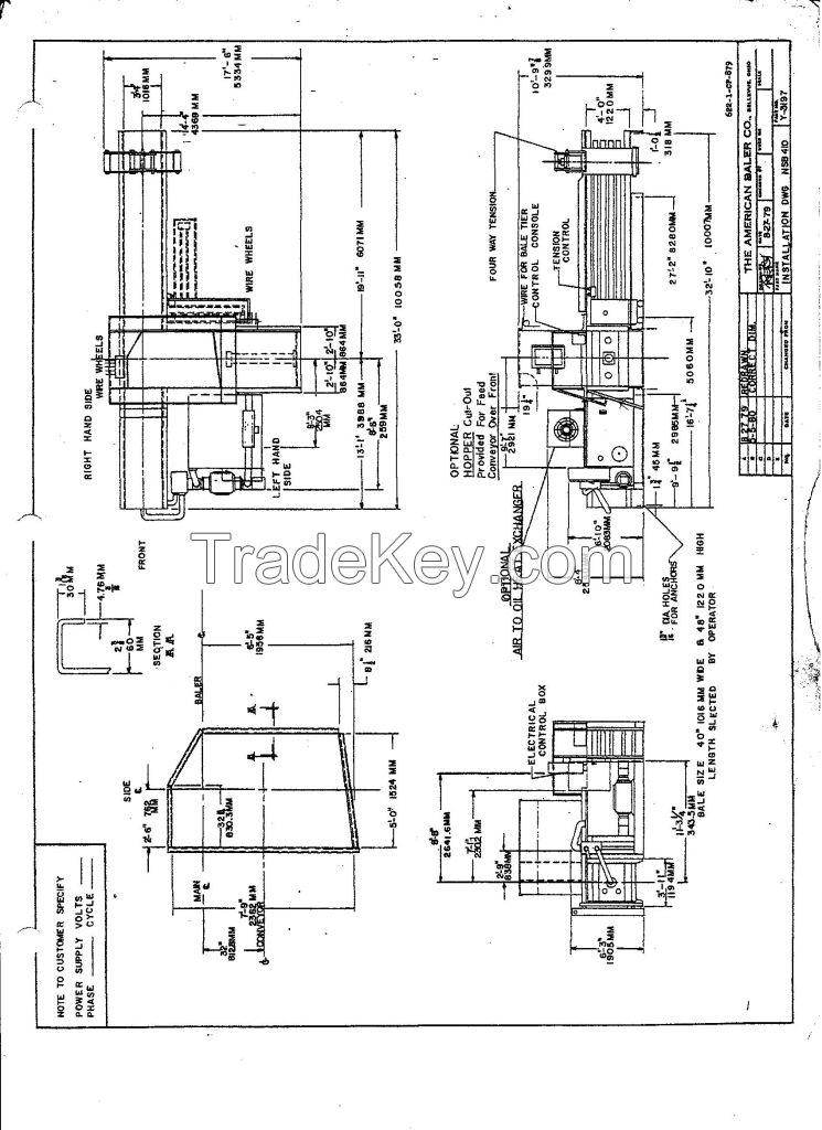 American Baler Company 410 Horizontal Baler with Auto-tie