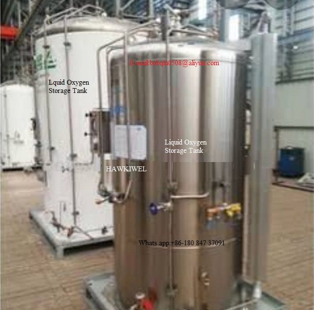 storage tank for liquid oxygen/liquid nitrogen