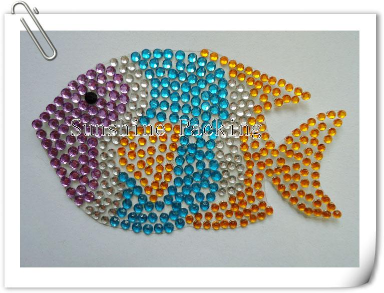 acrylic rhinestone sticker