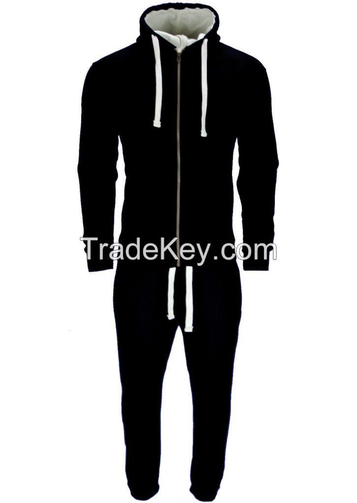 Men's Tracksuit Zip Up hoodies Super Skinny Joggers Black New Model 2017