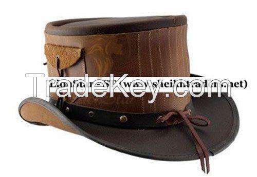 LionStar Real Leather Unisex CowBoy Hat
