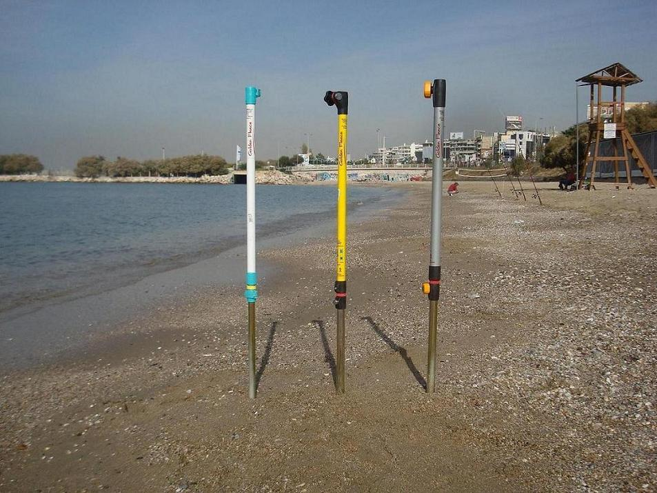 hammering beach umbrella stake