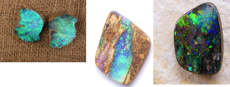 opal, boulder and pipe