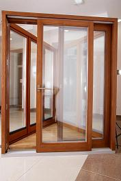 Wooden, wooden-aluminum windows, wood panel