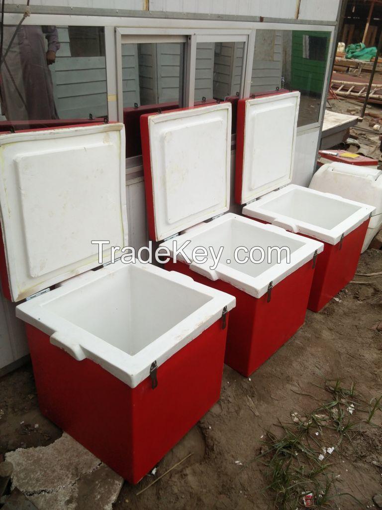 Fiberglass insulated delivery box