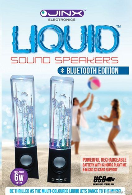 JINX Liquid Sound Speakers (Bluetooth Rechargeable Edition)