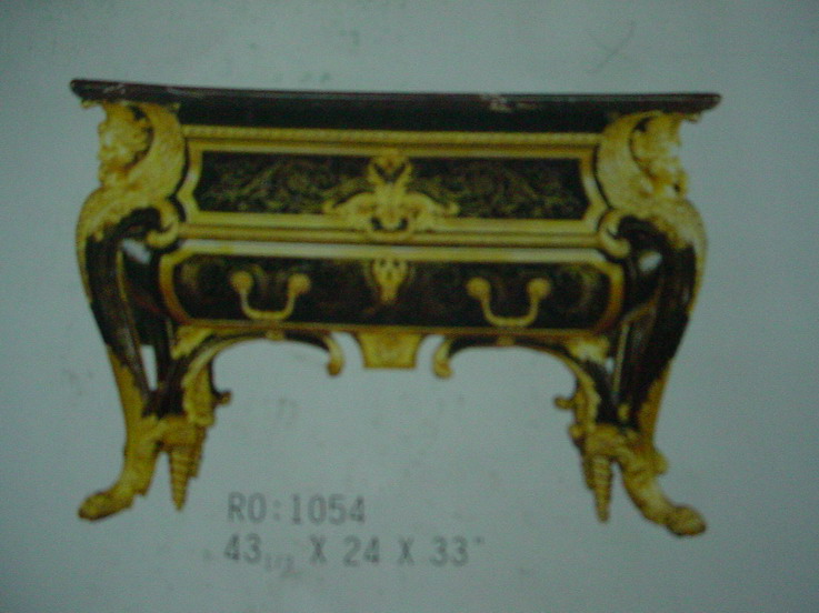 furniture with wooden carving