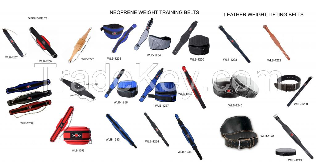 Weight lifting Leather belts, Nylon Weight training Belts, Dipping Belts