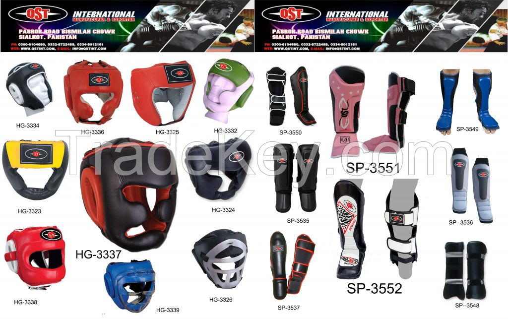 Boxing Head Gears, Boxing Shin Pads, Boxing Protections