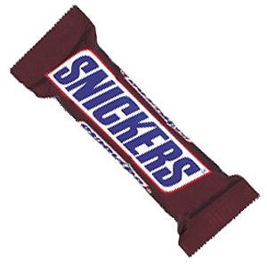 Snickers, Twix, Bounty, Mars