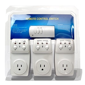 3-pack wireless remote outlet