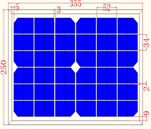 10W Solar Panel Monocrystalline module Panel
