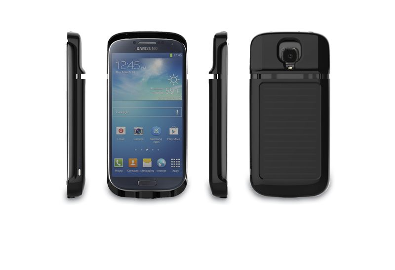 solar battery charger case 3000mah for Galaxy S4 phone