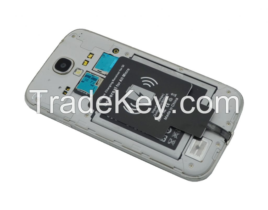 2014 New comeing QI wireless charging receiver for Samsung HTC LG SE charger for All Micro connector