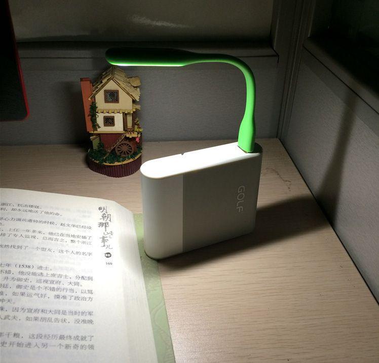 Portable USB Light 5V Bendable Mini Slim Lamp Table Light For PC Laptop Power Bank