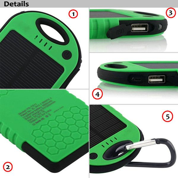 Fashionable design 5000mah portable Li-polymer battery charger