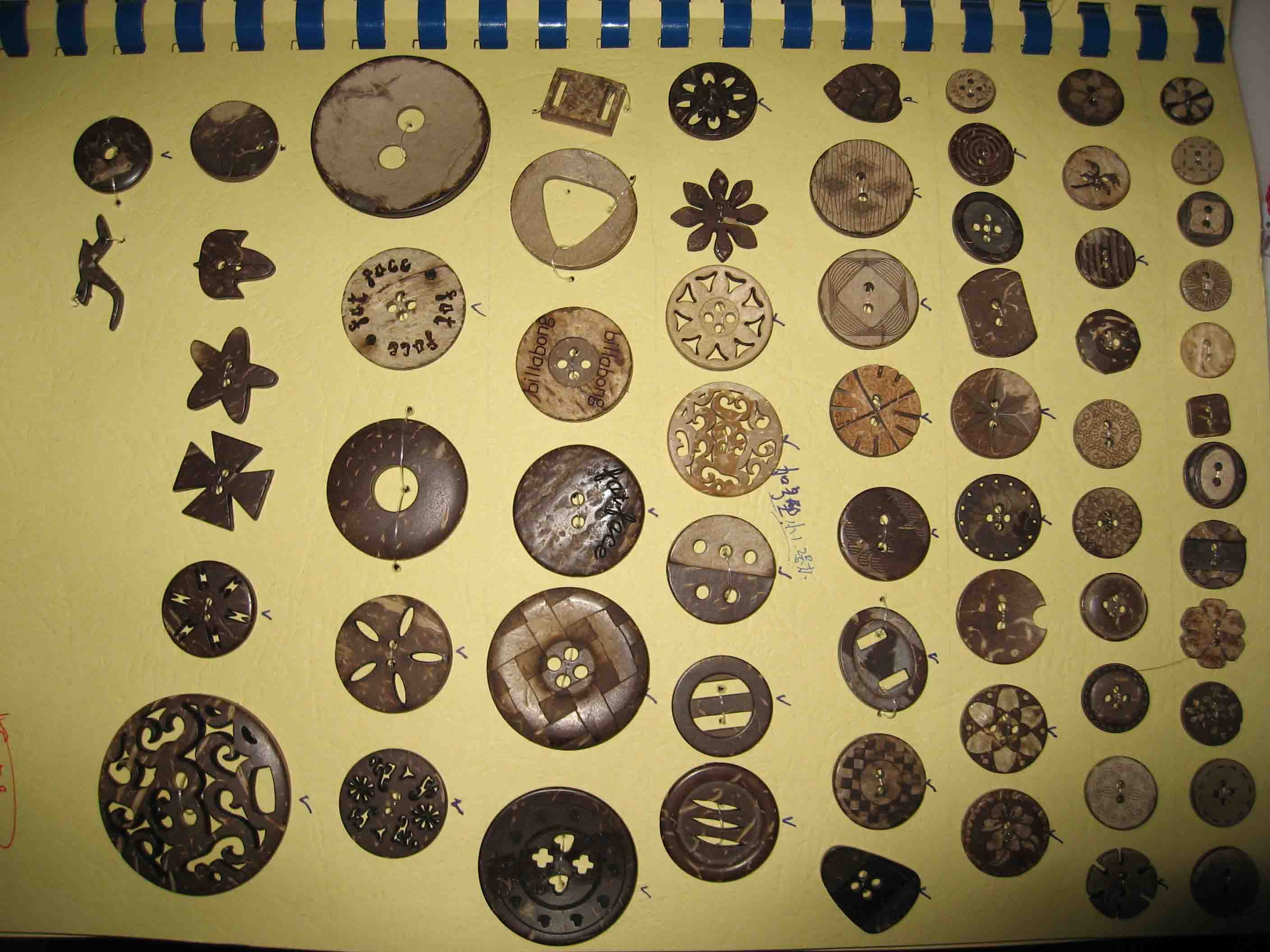 coconut buttons ,shell buttons