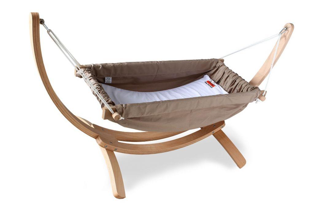 Bliss Wooden Horizontal Baby Hammock crib cot bed