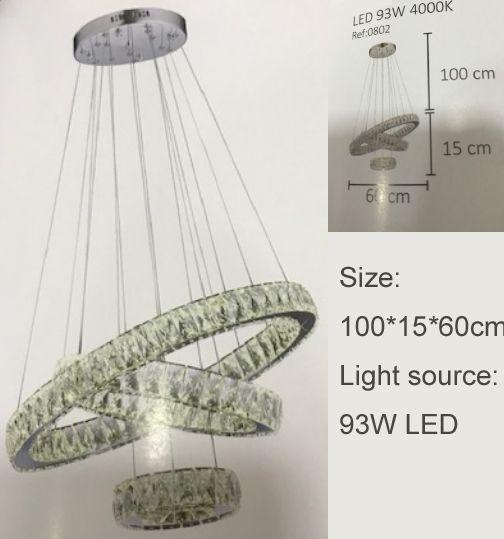 LED pendant light, chandelier lamp, crystal lamp