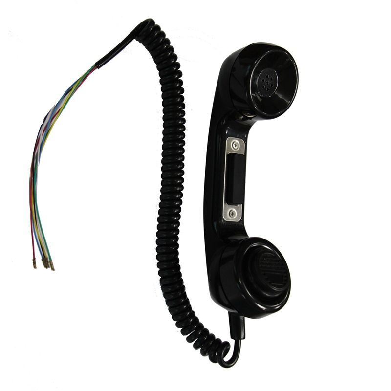 Weatherproof anti-radiation retro handset with strong magnetic PTT switch hook