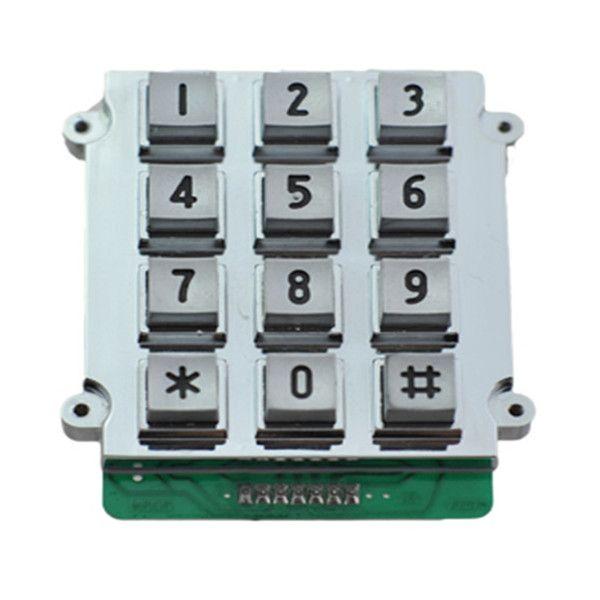 Industrial waterproof 3x4 12keys zinc alloy material keypad for outdoor