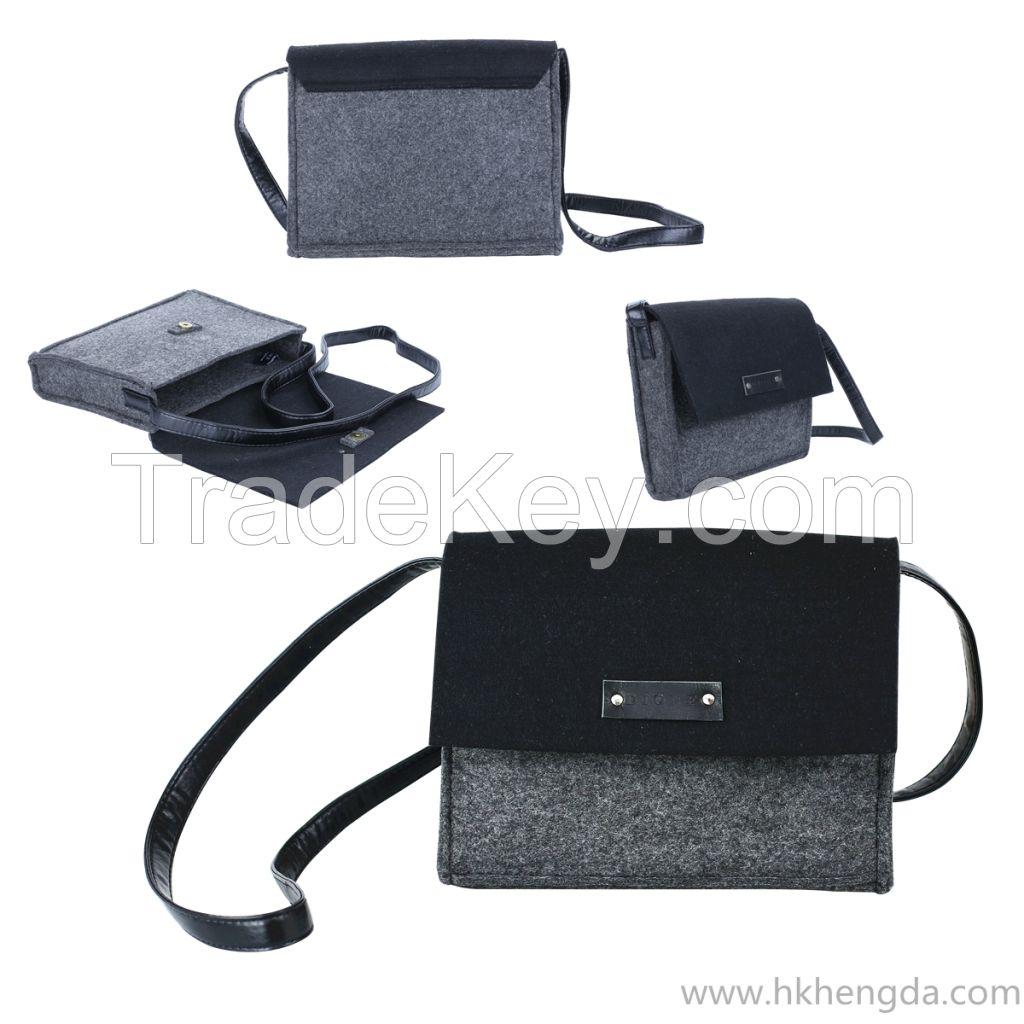 Handmade felt shoulder fashion bag