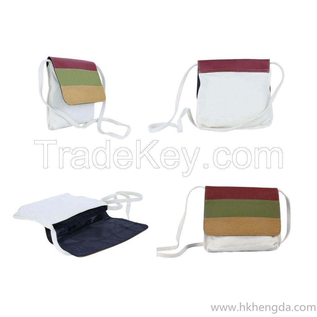 Triangular Design Washable kraft paper shoulder bag