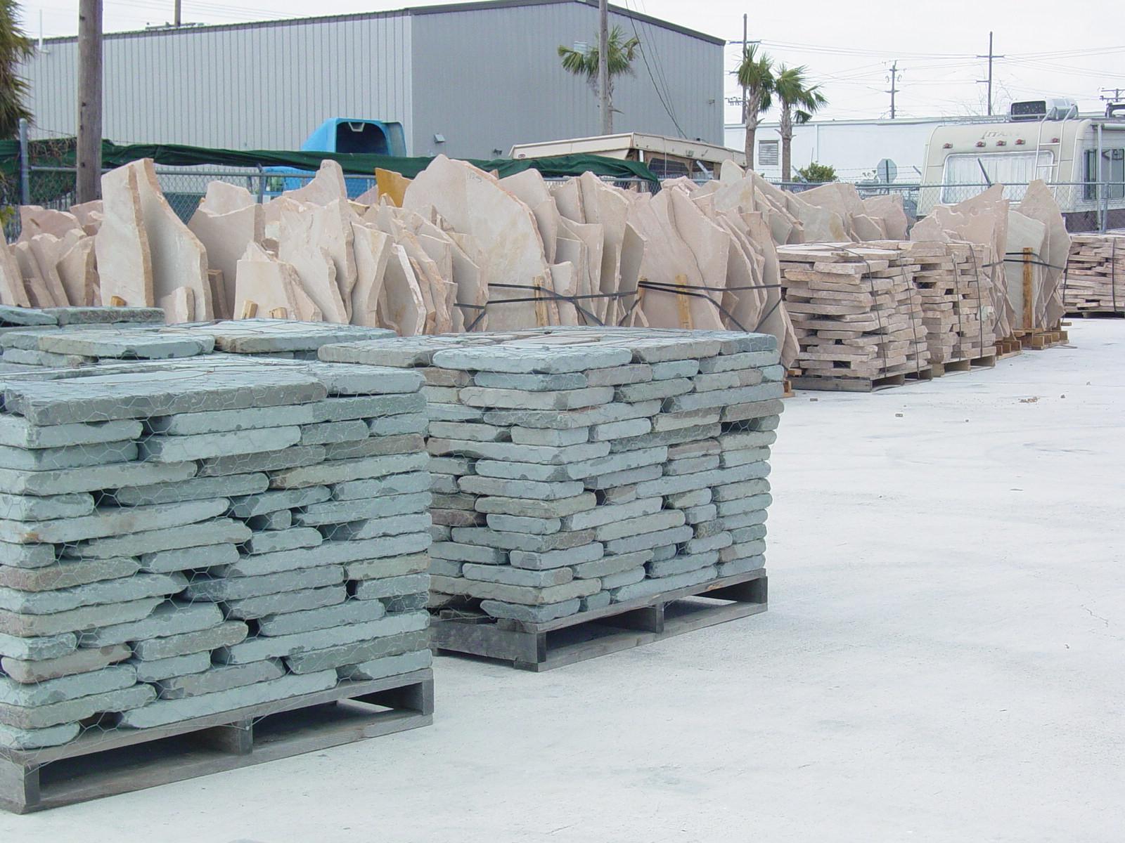 Plywood,Magnesia Board,Tumbled Pennsylvania Bluestone,Arizona Sandston